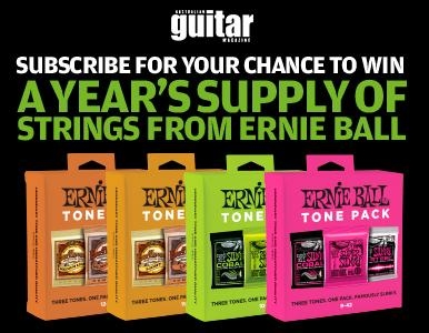 Subscribe NOW for a chance to WIN FOUR ERNIE BALL TONE PACKS!