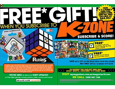 SUBSCRIBE NOW  & RECEIVE A FREE 3 X 3 RUBIK'S CUBE  & MINI KEYRING!