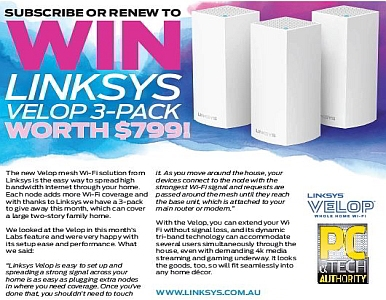 SUBSCRIBE NOW & YOU COULD WIN A LINKSYS VELOP 3-PACK!
