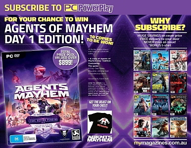 SUBSCRIBE NOW FOR A CHANCE TO WIN AGENTS OF MAYHEM DAY 1 EDITION!