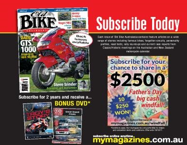 SUBSCRIBE TO OLD BIKE FOR YOUR CHANCE TO WIN A SHARE IN $2500!
