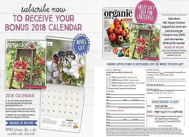 BONUS ORGANIC GARDENER CALENDAR WHEN YOU SUBSCRIBE!