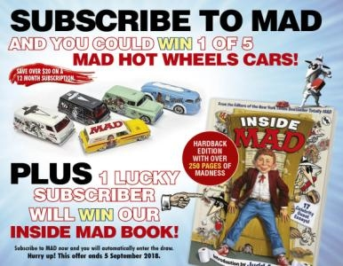 SUBSCRIBE NOW FOR YOUR CHANCE TO WIN 1 OF 5 HOT WHEELS CARS!