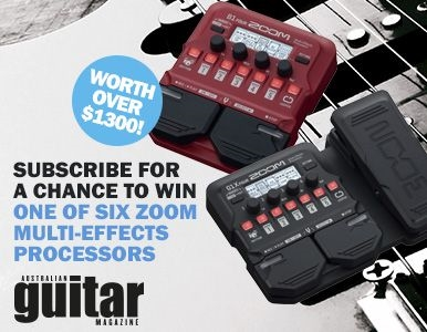 SUBSCRIBE FOR YOUR CHANCE TO WIN 1 OF 6 ZOOM EFFECTS PEDALS!