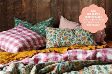 subscribe for your chance to win 1 of 2 bedding packs!