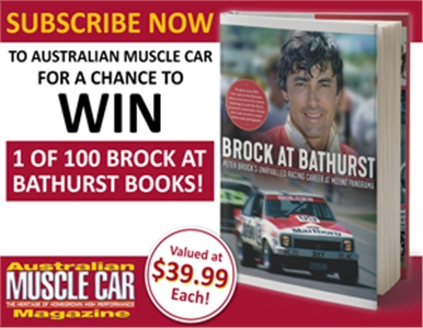 SUBSCRIBE TO AUS MUSCLE CAR FOR YOUR CHANCE TO WIN 1 OF 100 BOOKS!