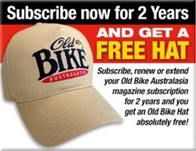 SUBSCRIBE TO OLD BIKE FOR 2 YEARS AND RECEIVE A FREE CAP!