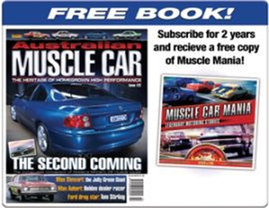 SUBSCRIBE AND RECEIVE A FREE MUSCLE CAR MANIA BOOK!