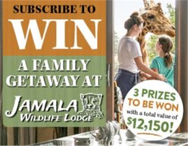 SUBSCRIBE FOR YOUR CHANCE TO WIN 1 OF 3 FAMILY GETAWAYS