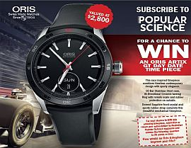 SUBSCRIBE NOW FOR A CHANCE TO WIN AN ORIS ARTIX GT TIMEPIECE!