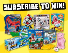 Subscribe NOW & you could WIN a HUGE GAME PRIZE PACK!
