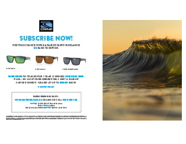 SUBSCRIBE NOW FOR A CHANCE TO WIN A PAIR OF CARVE SUNGLASSES!