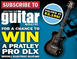SUBSCRIBE NOW FOR A CHANGE TO WIN A PRO DLX MODEL ELECTRIC GUITAR!
