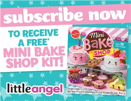 SUBSCRIBE NOW & RECEIVE A FREE ADORABLE KLUTZ MINI BAKE SHOP!