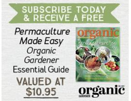 SUBSCRIBE TO ORGANIC GARDENER TODAY AND RECEIVE A FREE BOOK!