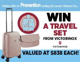 SUBSCRIBE FOR YOUR CHANCE TO WIN 1 OF 5 VICTORINOX TRAVEL SETS!