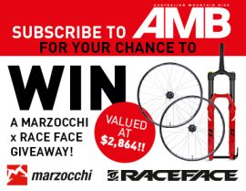 SUBSCRIBE FOR YOUR CHANCE TO WIN A MARZOCCHI X RACE FACE PACK!